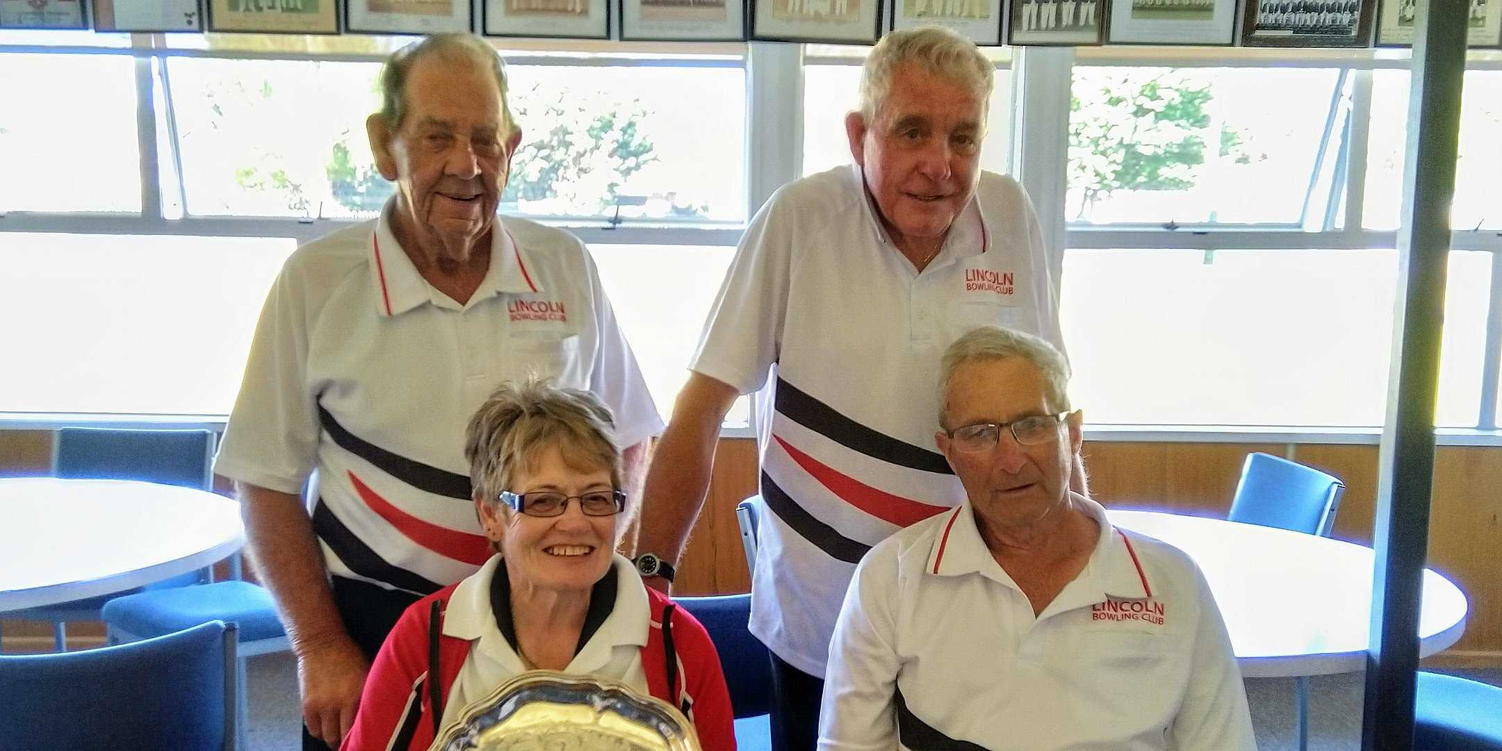 Ellesmere Mixed Fours Runners Up - Mark England, Barry Hollands(s), Diane McQueen, and Bob Sutherland