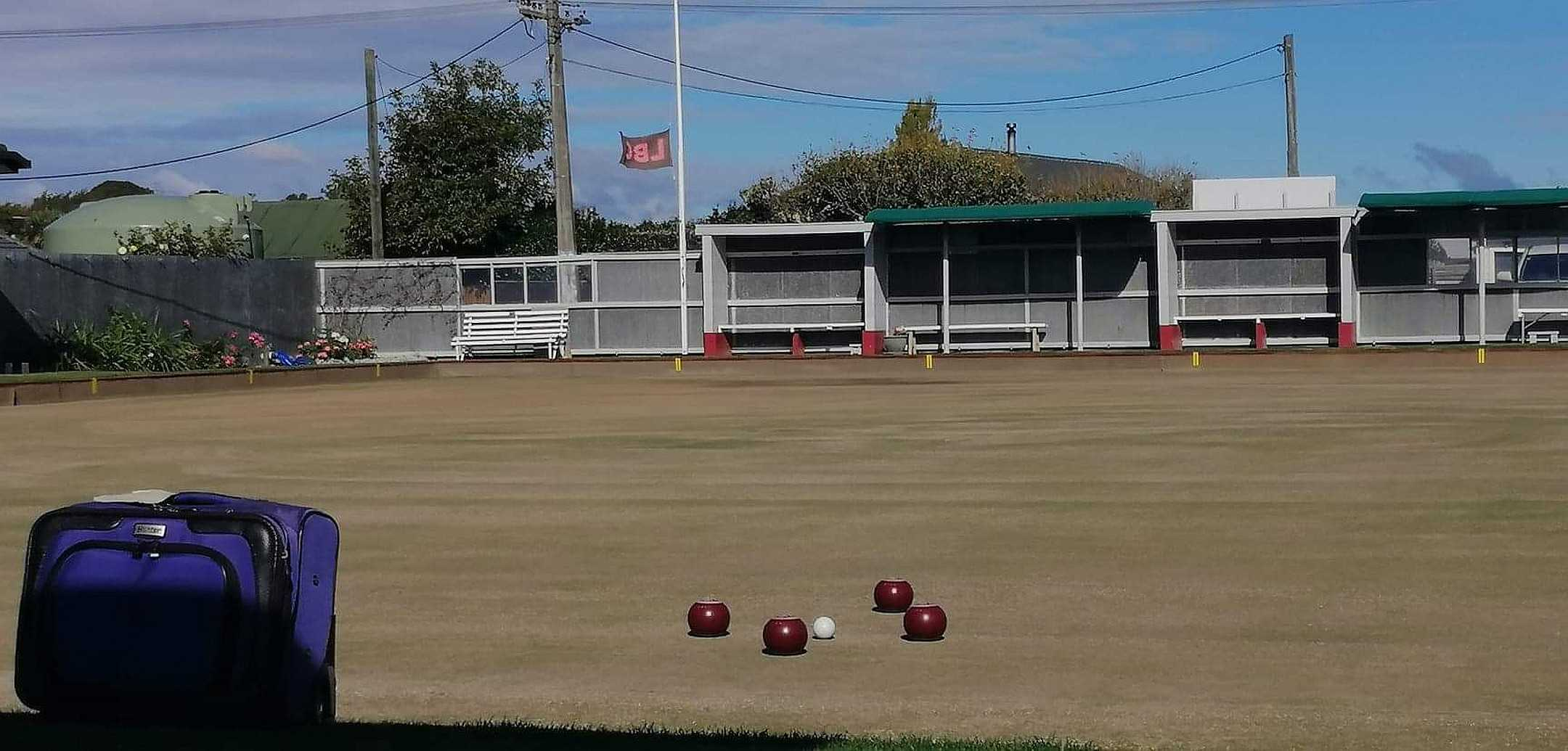The Presidents Tournament - 17 April 2021 - Don Watson's bowls laid out in memory of his passing.