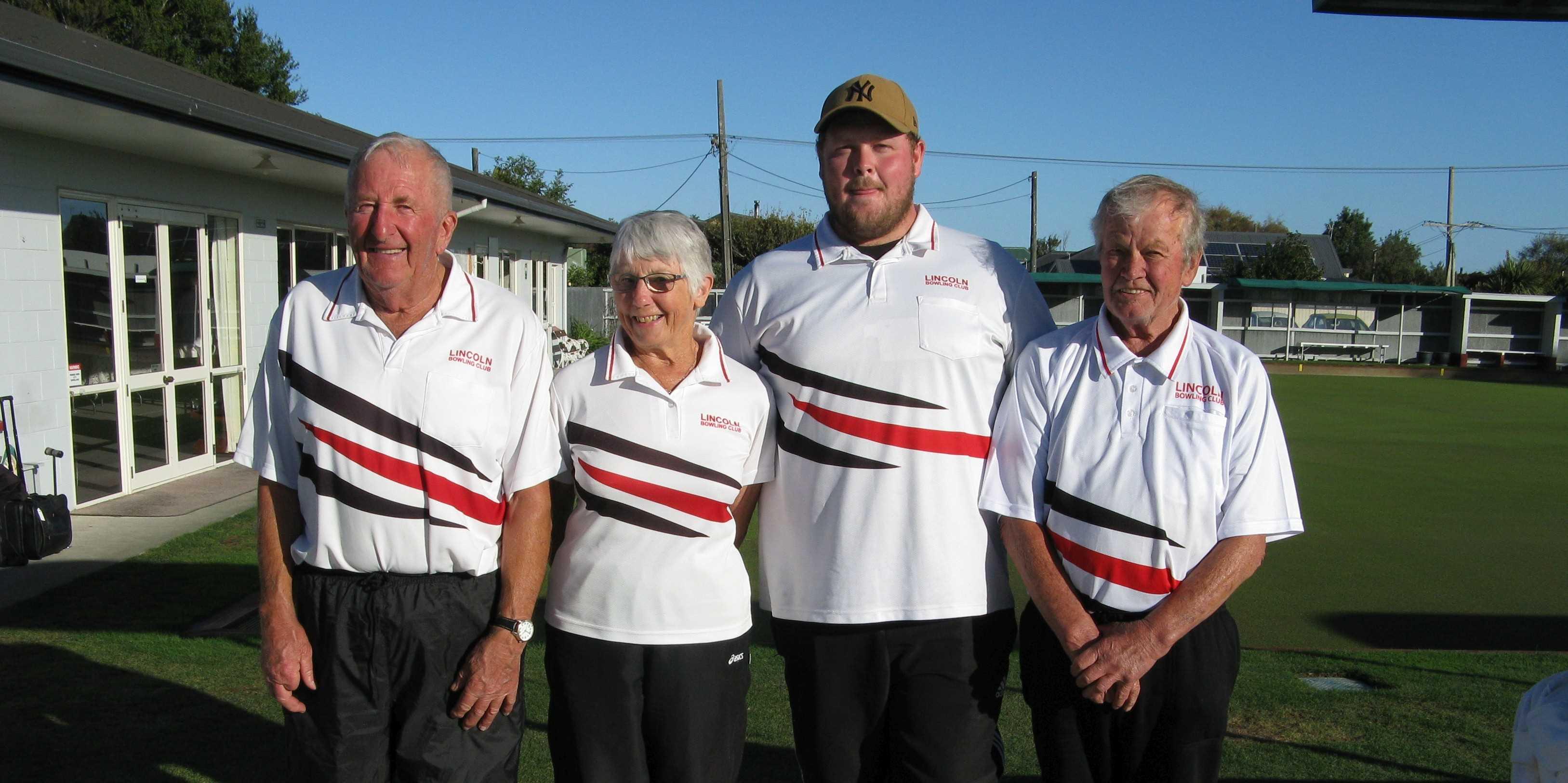 The winners of the Presidents Tournament; Bruce Blazey, Margie Watson, Daniel Harris(s) & Paul Lee
