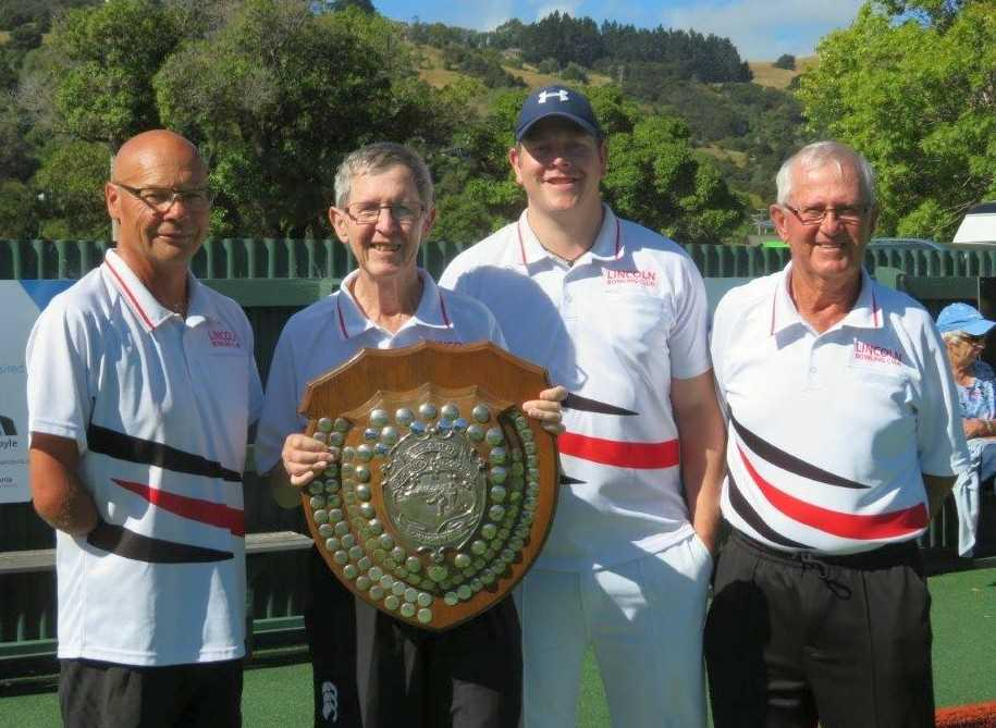 Winners of the Ellesmere Men's Champion of Champions - Paul Williams, Mundy Carroll(s), Dave Spite & Brian Williamson
