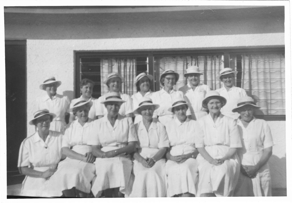 A photo of the Ladies in the Club taken in the 1957-58 bowling season.