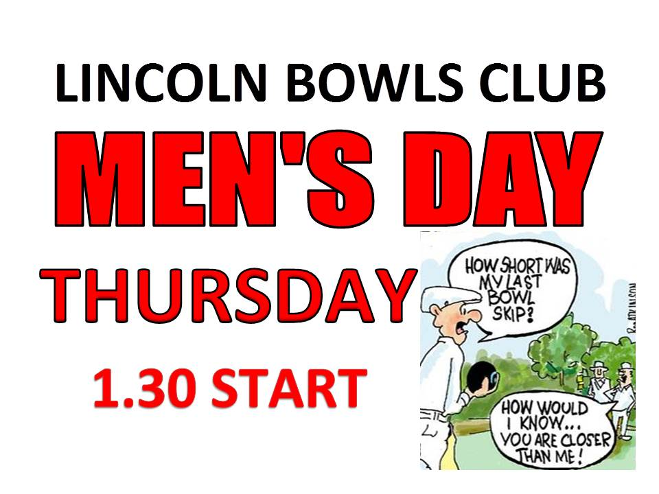 Poster for men's Day Bowls